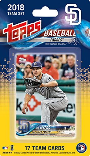 (San Diego Padres 2018 Topps Factory Sealed Special Edition 17 Card Team Set with Wil Myers and Cory Spangenberg Plus)