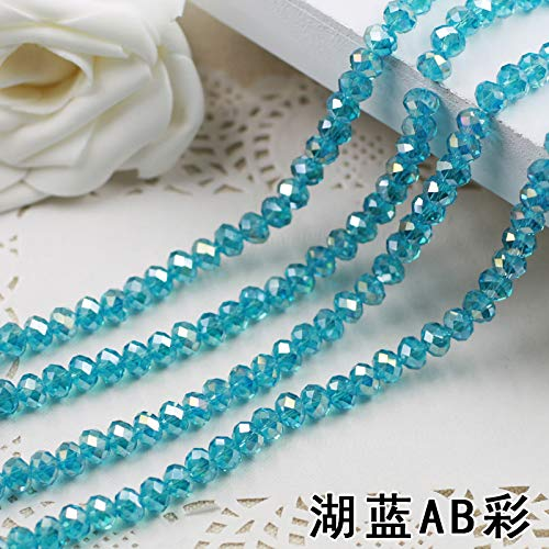 HATCHMATIC Free shipping ~ AAA calidad 5040 Aquamarine AB Crystal Glass Rondelle cuentas DIY Jewelry Accessories. 2mm 3mm...