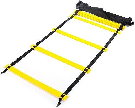 Morran 7m Formación Escalera para Velocidad de Fútbol Baloncesto Fútbol Fitness Entrenamiento Pies con Bolsa de Transporte Velocidad Escalera de Agilidad 16.53 Inch Amarillo: Amazon.es: Deportes y aire libre