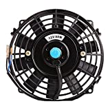 "AUTOSAVER88 7"" Electric Radiator Cooling Fan Assembly Universal Slim Engine Fan with Mount Kit Push Pull 12V 80W"