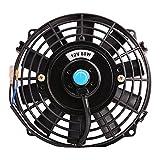 7 radiator fan - Universal Slim Fan Push Pull Electric Radiator Cooling Fans 12V 80W Engine Fan with Mount Kit (Diameter 8.27