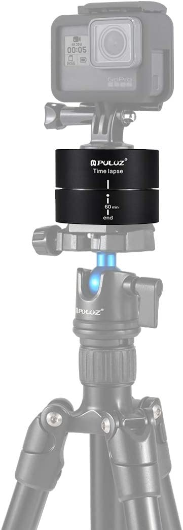 MEETBM ZIMO,360 Degrees Panning Rotation 60 Minutes Time Lapse Stabilizer Tripod Head Adapter