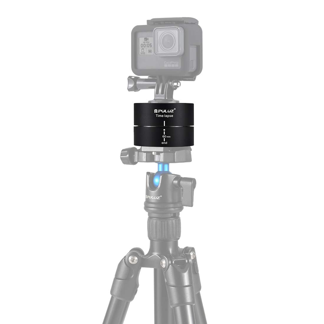 HEGUANGWEI Camera Mount 360 Degrees Panning Rotation 60 Minutes Time Lapse Stabilizer Tripod Head Adapter Photography by HEGUANGWEI