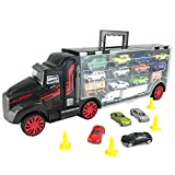 2012 camaro toy car - Boley Truck Carrier Toy - Big Rig Hauler Truck with 14 die cast cars and 28 slots for car toys, great toy for boys and girls!