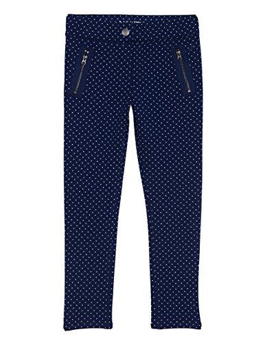 (Nautica Girls' Little' Printed Mini Dot Knit Pant, Medium Navy, 5)