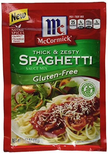 McCormick Gluten Free Thick And Zesty Spaghetti Seasoning, 1.37 oz (Case of 12) (And Free Sauce Gluten Spaghetti)
