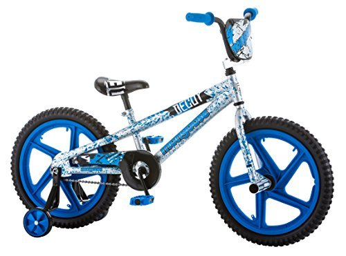 """Mongoose Boys Stun Bicycle with 18"""" Wheels, Blue"""