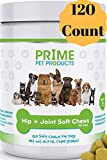 Glucosamine Chondroitin for Dogs - Advanced Hip and Joint Supplement (120 Count) Dog Soft Chews - MSM and Organic Turmeric - Supports Healthy Joints and Arthritis - Made in USA - Duck Flavor Vitamins