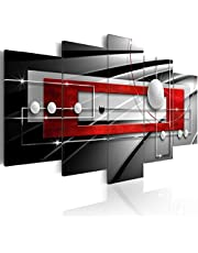 B&D XXL murando Impression sur Toile intissee 200x100 cm cm 5 Parties Tableau Tableaux Decoration Murale Photo Image Artistique Photographie Graphique Abstrait Sphere a-A-0209-b-n