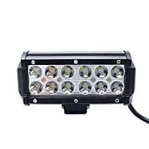 "KAWELL® Latest Off Road ATV 36W 6.6"" 30 Degree 12LEDs Spot Beam Light Bar 4x4 Jeep Polaris Offroad Tractor Marine Truck Raptor Super Bright for Jeep/truck/atv/suv"