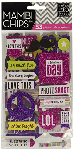 ideas Pocket Pages Chipboard Stickers
