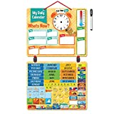 Deluxe Kids Calendar-134 Exciting Learning Magnets. Heavy Duty Board. Wall or Fridge. Fun Educational Activity for Home and School.