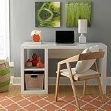 Trendy Elegant Cube Organizer Desk, White (White)
