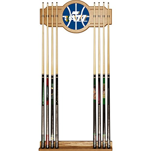 Trademark Gameroom NBA6000-UJ2 NBA Cue Rack with Mirror - Fade - Utah Jazz by Trademark Global