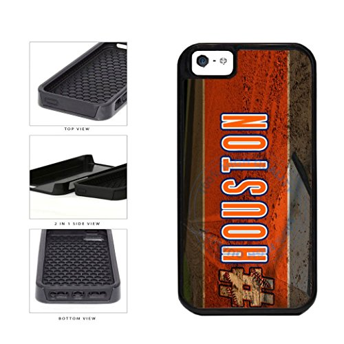 BleuReign(TM) Hashtag Houston #Houston Baseball Team 2-Piece Dual Layer Phone Case Back Cover For Apple iPhone 5 5s