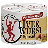 Underwood Liver Wurst Spread, 4.25oz Can (Pack of 6)