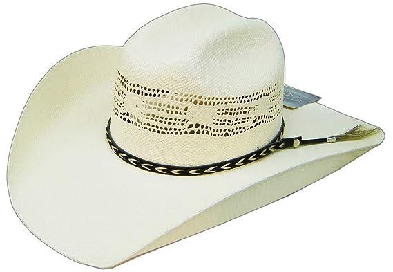 44641bcec Modestone Bangora Breezer Straw Chapeaux Cowboy Horse Hair Hatband White