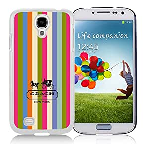 Coach 3 White Samsung Galaxy S4 I9500 Screen Phone Case Unique and Grace Look