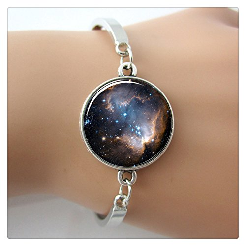 (accessory fine jewelry for women Galaxy Bracelet plated silver bangle Nebula Space bracelet & bangle bijoux)