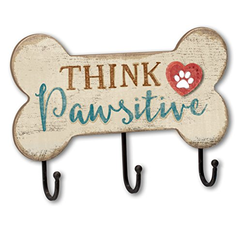 Think Pawsitive Bone Shaped Dog Leash Hook Holder