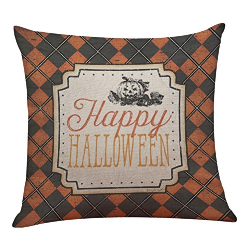 Halloween Pillow Cases,SUPPION Halloween Pillow Box Linen Sofa Funny Ghost Pad Cushions Home Decoration(7 kinds of patterns) (G)