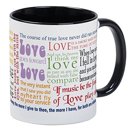 CafePress Shakespeare On Love Mug Mugs Unique Coffee Mug, Coffee Cup