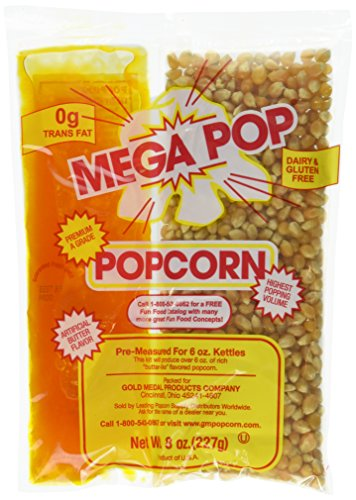 MEGA-POP 36 ct 8 oz. corn kit for 6 oz popper (Gold Medal Seasoning Salt compare prices)