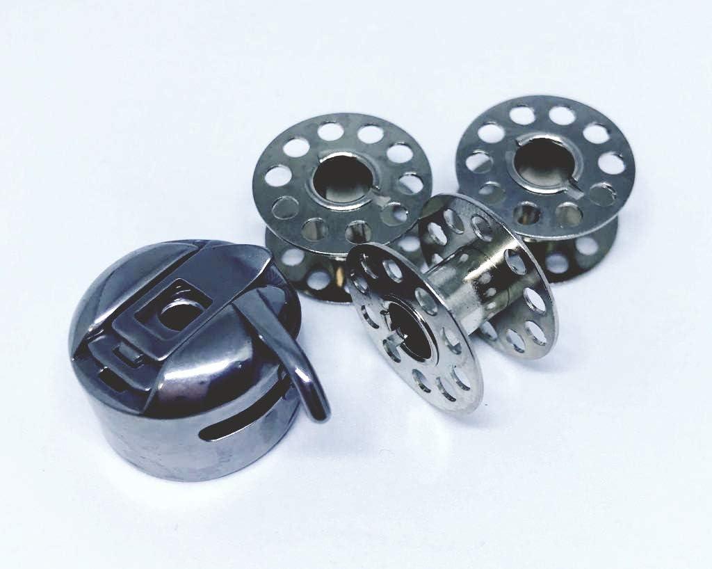 Nähmaschinenzubehör24 CB - Cápsula para máquina de Coser Victoria (Incluye 3 bobinas de Metal): Amazon.es: Juguetes y juegos