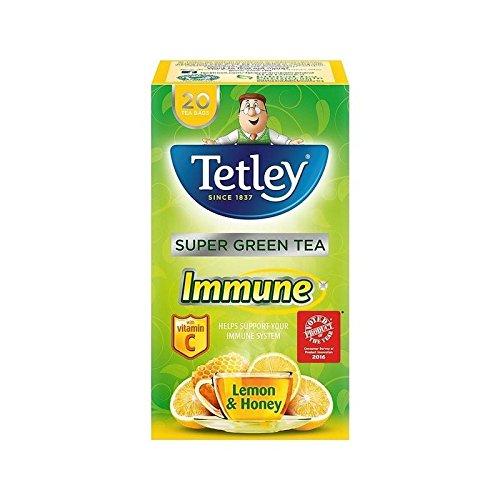 Tetley Super Green Tea Immune Lemon & Honey 20 per pack - Pack of (Tetley Lemon Tea)