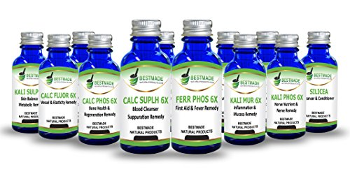Classic Tissue Cell Salt Kit All 12 Schussler Cell Salts with Easy to Use Remedy Chart, Boost Your Immune System, Stimulate Natural Healing, Provide Cellular Nutrition Vital to Cellular Function