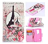 For LG Leon,LG Case,Leon Case,LG Leon Case,LG Leon Cases,Leon Leather,LG Leon Wallet Case,Candywe Slim Fit Flip Wallet Leather Case With Stand Function For LG Leon 4G C40 LTE H340N H345 For Boys For Girls 009