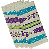 E by design 19'' x 19'' Dean Purple Geometric Print Napkin