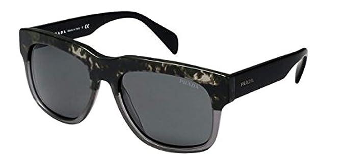 6bd676b5af71c Amazon.com  Prada 14QS RO31A1 Black and Grey 14QS Cast Square ...