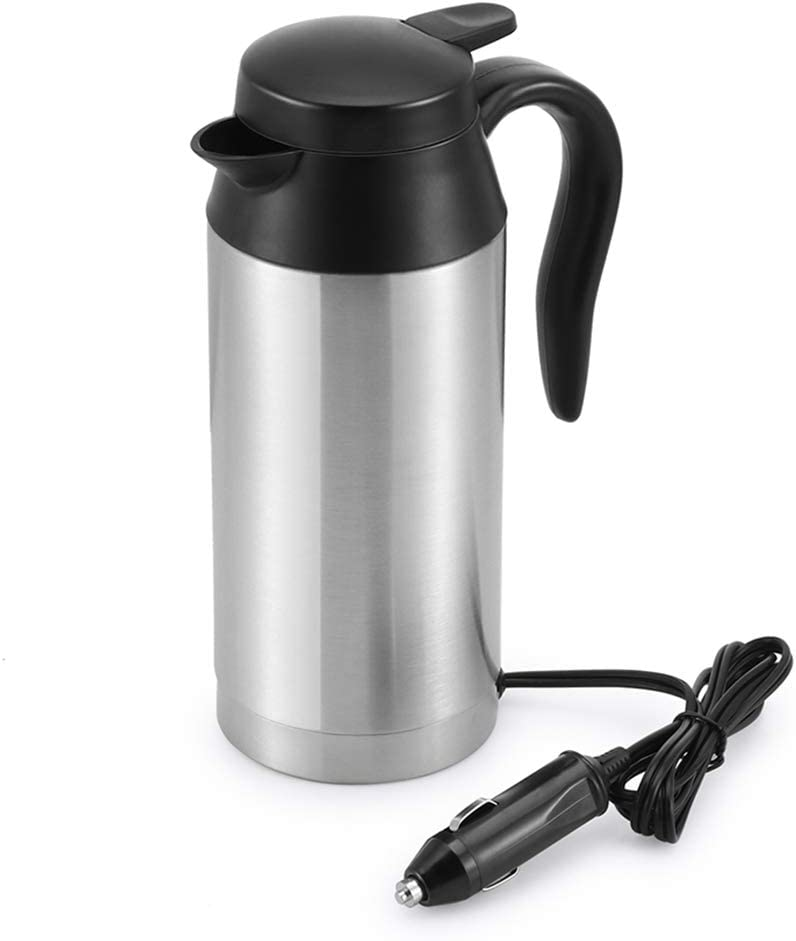 Car Kettle Boiler Sunsbell 750ml Car Heating Travel Cup Stainless Steel Mug Car Coffee Cup Warmer with DC 12V Charger (Kettle Boiler)