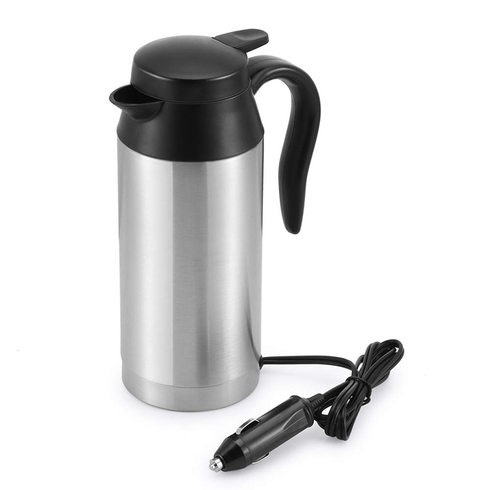 Car Kettle Boiler Sunsbell 750ml Car Heating Cup Stainless Steel Mug Car Coffee Cup Warmer with DC 12V Charger (Kettle Boiler) by Sunsbell