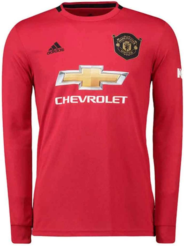 Amazon Com Manchester United 2019 2020 Home Long Sleeve Jersey S Black Red Clothing
