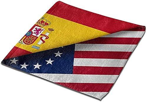 Not applicable Toalla de Mano Bandera de España y Betsy Ross-1 Novedad Multifunción Toalla de baño Cuadrada: Amazon.es: Deportes y aire libre