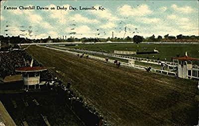 Famous Churchill Downs on Derby Day Louisville, Kentucky Original Vintage Postcard