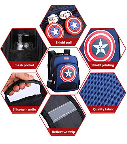 L Lonme Kids Backpacks Children Primary School Bag Captain America Backpack Schoolbags Teenager Student Dayback