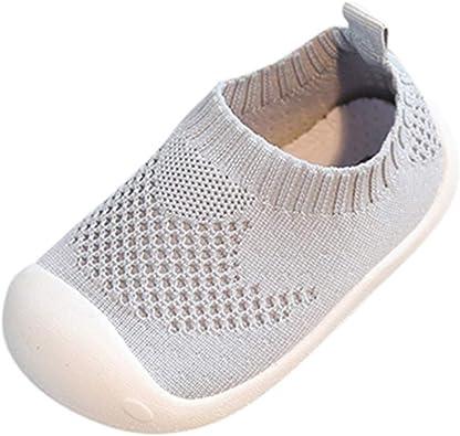 IMJONO Enfant Chaussure Tissu élastique Sport Chaussure Bébé Fille Chaussure Premier Pas Engrener Souple Chic Chaussures Bébé Garçons Fille Sneakers