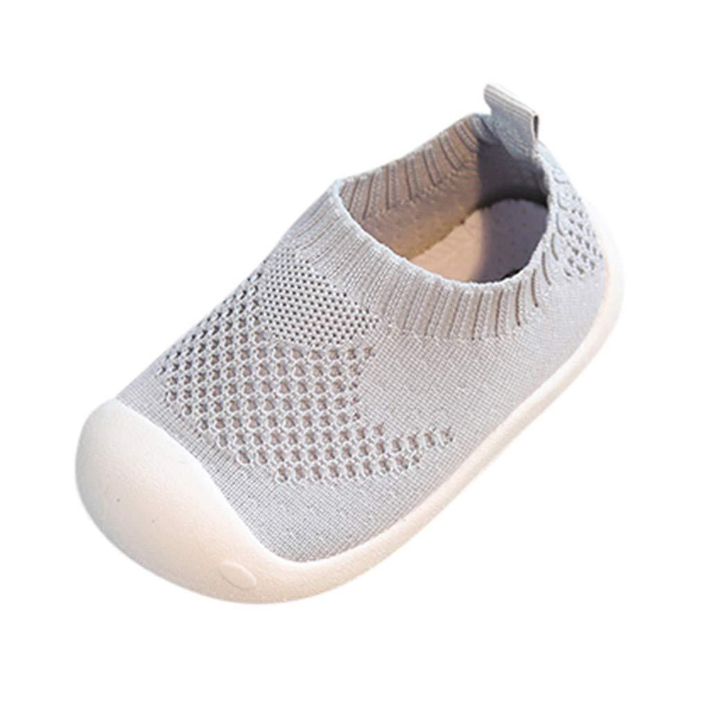Hukezhu Chaussures de Sport d/écontract/ées pour b/éb/é Fille gar/çon 25 EU Gris Gris