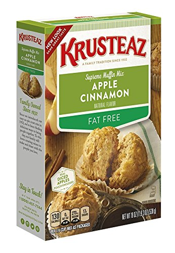 Fat Muffins (Krusteaz Fat Free Apple Cinnamon Supreme Muffin Mix, 19-Ounce Boxes (Pack of 12))