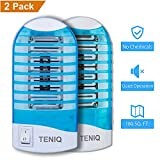 Bug Zapper Electronic Insect Killer, Indoor Mosquito Killer Lamp,Eliminates Most Flying Pests! Teniq Night Lamp Ideal for Bedroom(PACK OF TWO)