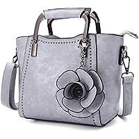 Top-Handle Bags, JOSEKO Women PU Leather Retro Rose Handbag Mini Crossbody Bag