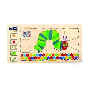 10431 Puzzle A Strati Bruco Maisazio Small Foot In Legno 5 Strati Con Diversi Motivi Da 3 Anni In Poi