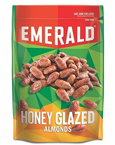 Emerald Nuts 5oz - 6oz Resealable Bag (Pack of 4) (Honey Glazed Almonds 6oz)