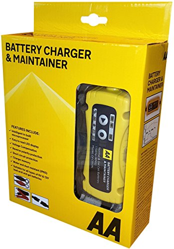 AA Battery Charger & Maintainer, For 6V & 12V Lead Acid and Gel Batteries -...