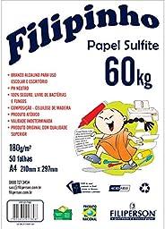 Papel Sulfite A4, Filiperson, Filipinho, 180g, 50 Folhas, Branco