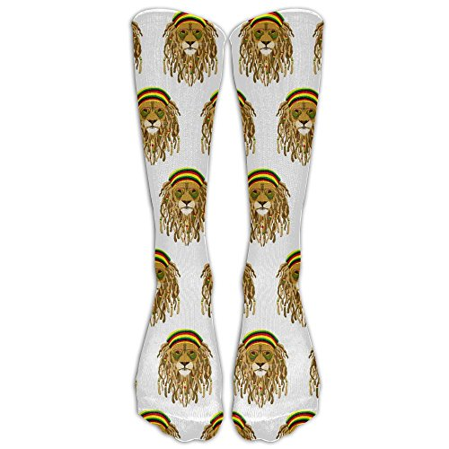 Most Fashion Maker Rasta Lion Raggae Jamacia Classics Stockings Long Tube Socks Top Quality Sports Socks Football Socks Perfect Gifts For Women Teens Girls Family Friends