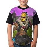 Raptor Kid's Boy's Girl Short Sleeve Round Neck Funny Blouse Tshirt S